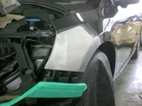 ボルボ S60損傷部分