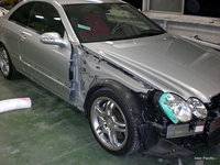 メルセデス・ベンツ AMG CLK55損傷部分