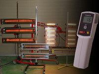カーボン・近赤外線乾燥機・赤外線放射温度計